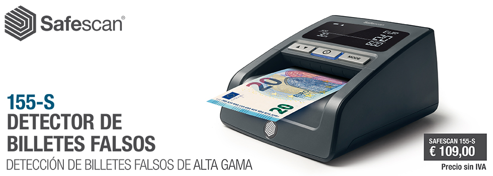 DETECTOR DE BILLETES FALSOS SAFESCAN 155-S NG